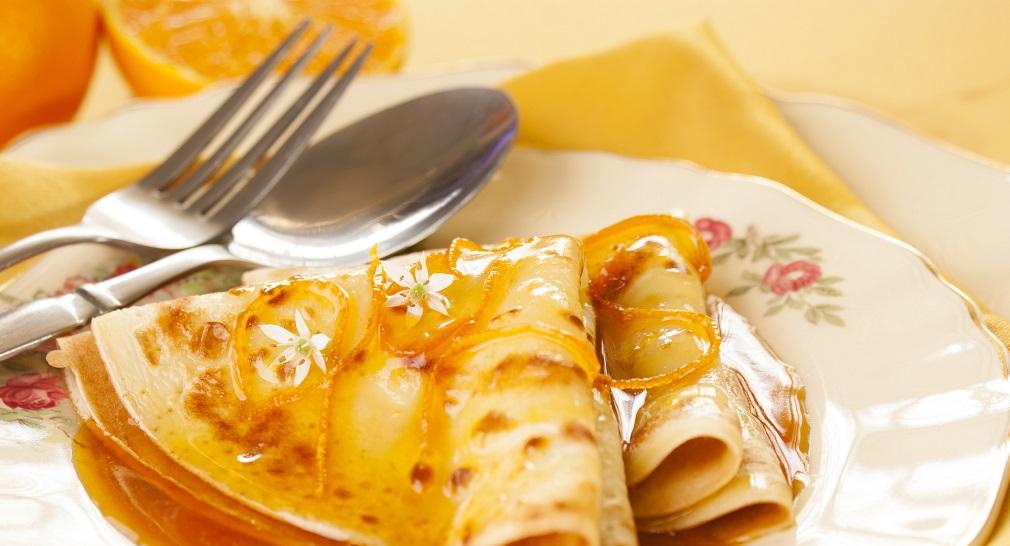 Crepes Suzette style boozy pancakes on Shrove Tuesday Silver MAgazine www.silvermagazine.co.uk