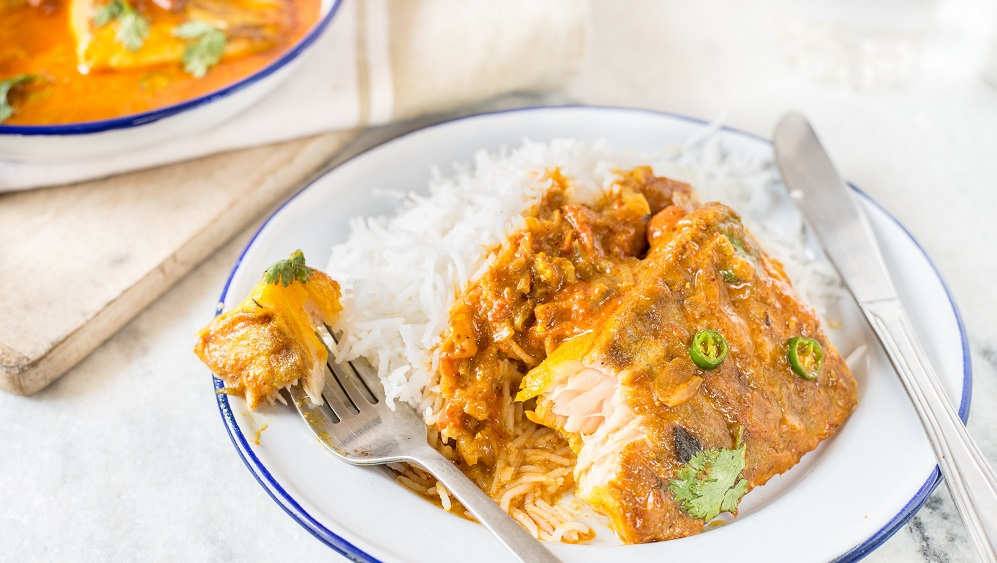 Goan Fish curry rice recipe on Silver Magazine www.silvermagazine.co.uk