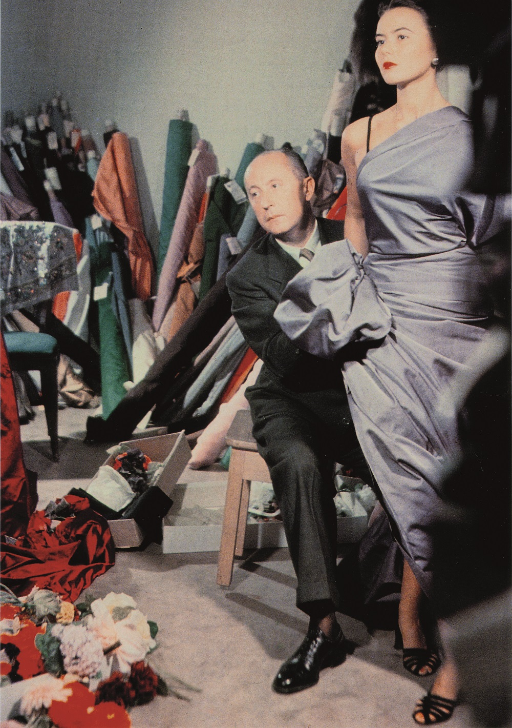 Christian Dior with model Sylvie, circa 1948 Courtesy of Christian Dior Silver Magazine www.silvermagazine.co.uk