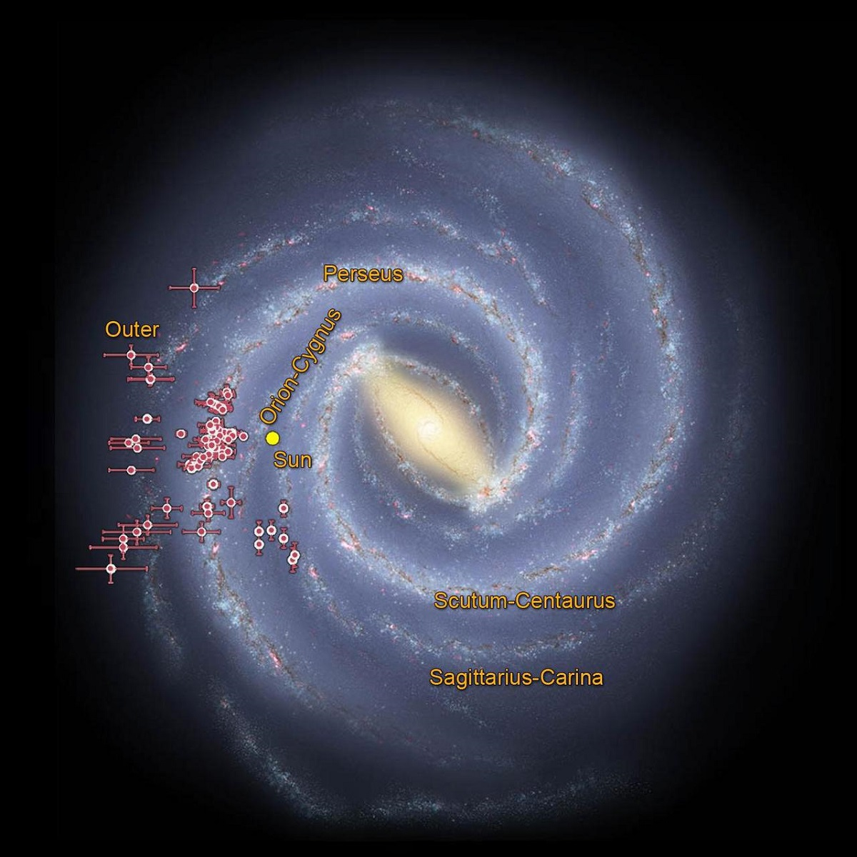 Tracing the arms of our milky way galaxy - NASA photos on Silver Magazine www.silvermagazine.co.uk