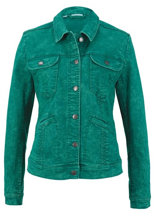 Bon Prix green denim jacket £39.99 fashion feature www.silvermagazine.co.uk