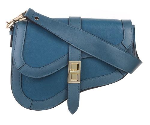 Dorothy Perkins AW19 Teal Blue Saddle Bag £25 fashion on Silver Magazine www.silvermagazine.co.uk