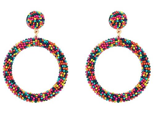 Gemma beaded hoops by Accessorize £8 seventies fashion on Silver Magazine www.silvermagazine.co.uk
