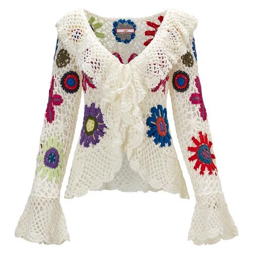 Joe Brown crochet top £45 seventies fashion on Silver Magazine www.silvermagazine.co.uk