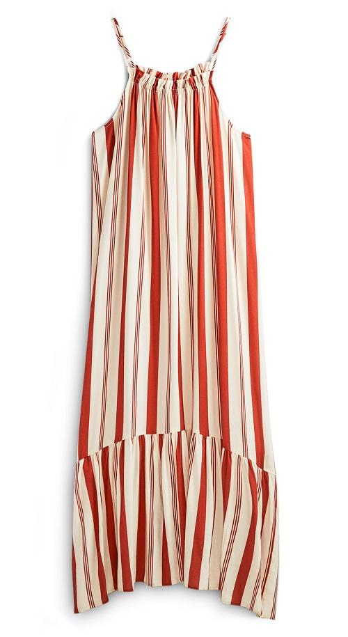 Primark striped halter neck dress £10 seventies fashion on Silver Magazine www.silvermagazine.co.uk
