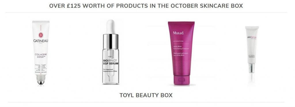 October beauty products beauty box Silver Magazine www.silvermagazine.co.uk