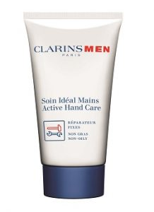 ClarinsMen Active Hand Care hand cream feature Silver Magazine www.silvermagazine.co.uk
