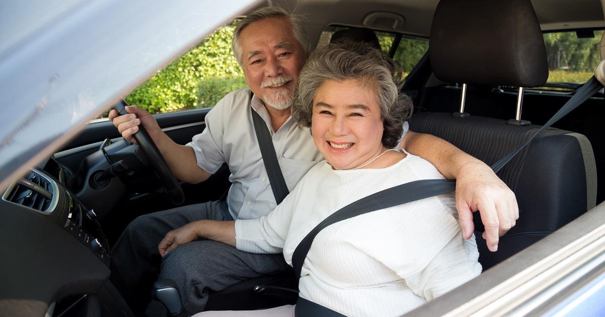 Mature couple on staycation roadtrip www.silvermagazine.co.uk