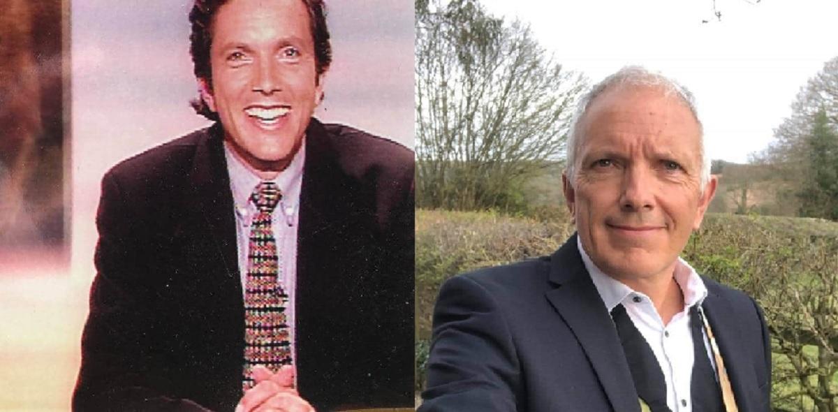 Richard Uridge before and after grey hair - Silver Magazine www.silvermagazine.co.uk