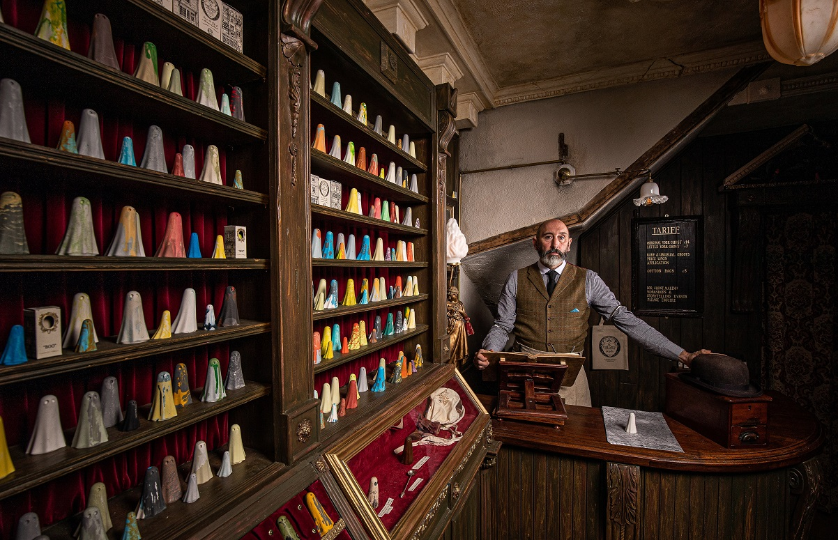 The Ghost Merchant - new careers after 50 article on Silver Magazine www.silvermagazine.co.uk