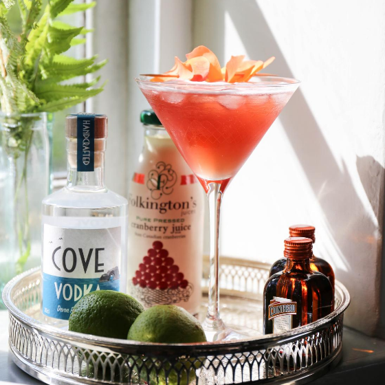 Cove Vodka Cosmopolitan cocktail recipe kit - article on Silver Magazine www.silvermagazine.co.uk