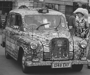 Pearly Queen of St Pancras, Diane with car - feature on Silver Magazine www.silvermagazine.co.uk