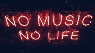 No music no life sign for music article on Silver Magazine www.silvermagazine.co.uk