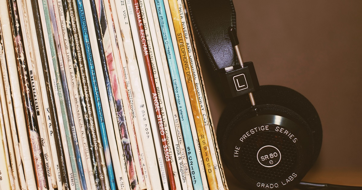 Records and headphones for music article on Silver Magazine www.silvermagazine.co.uk