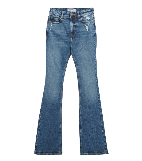 New Look Blue Distressed High Waist Flared Brooke Jeans - £29.99