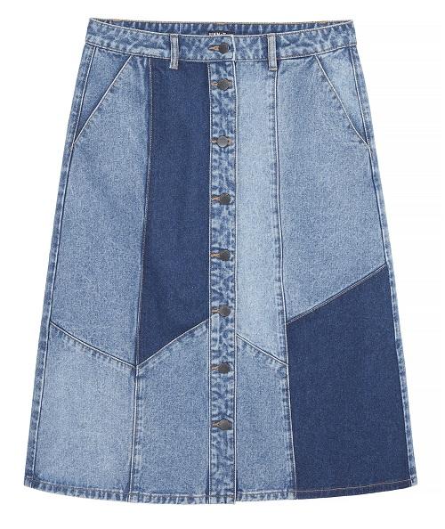Tu Patchwork Denim A line 70s skirt - £20