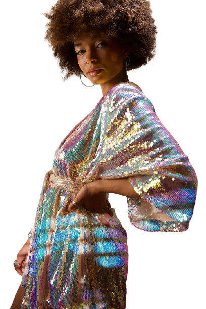 Winifred Rose sequin house coat £95