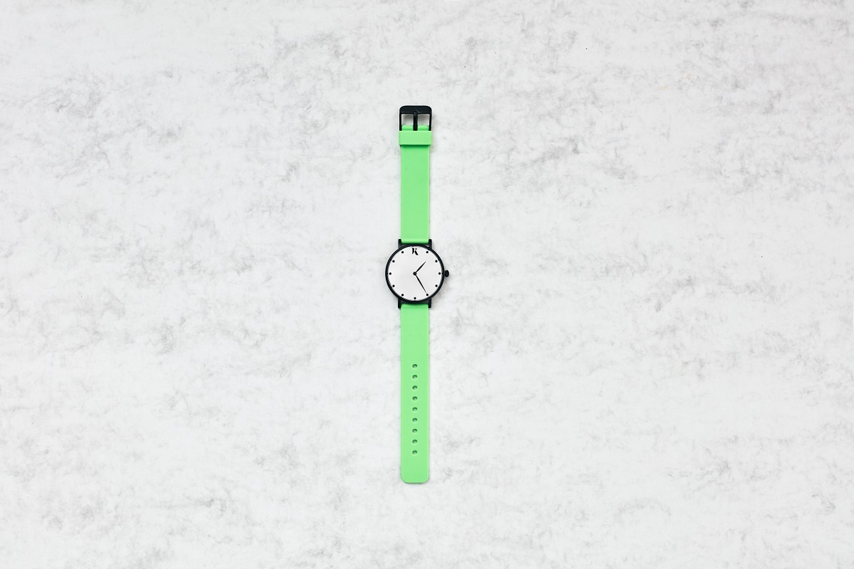 17. Neon Green Silicone Watch