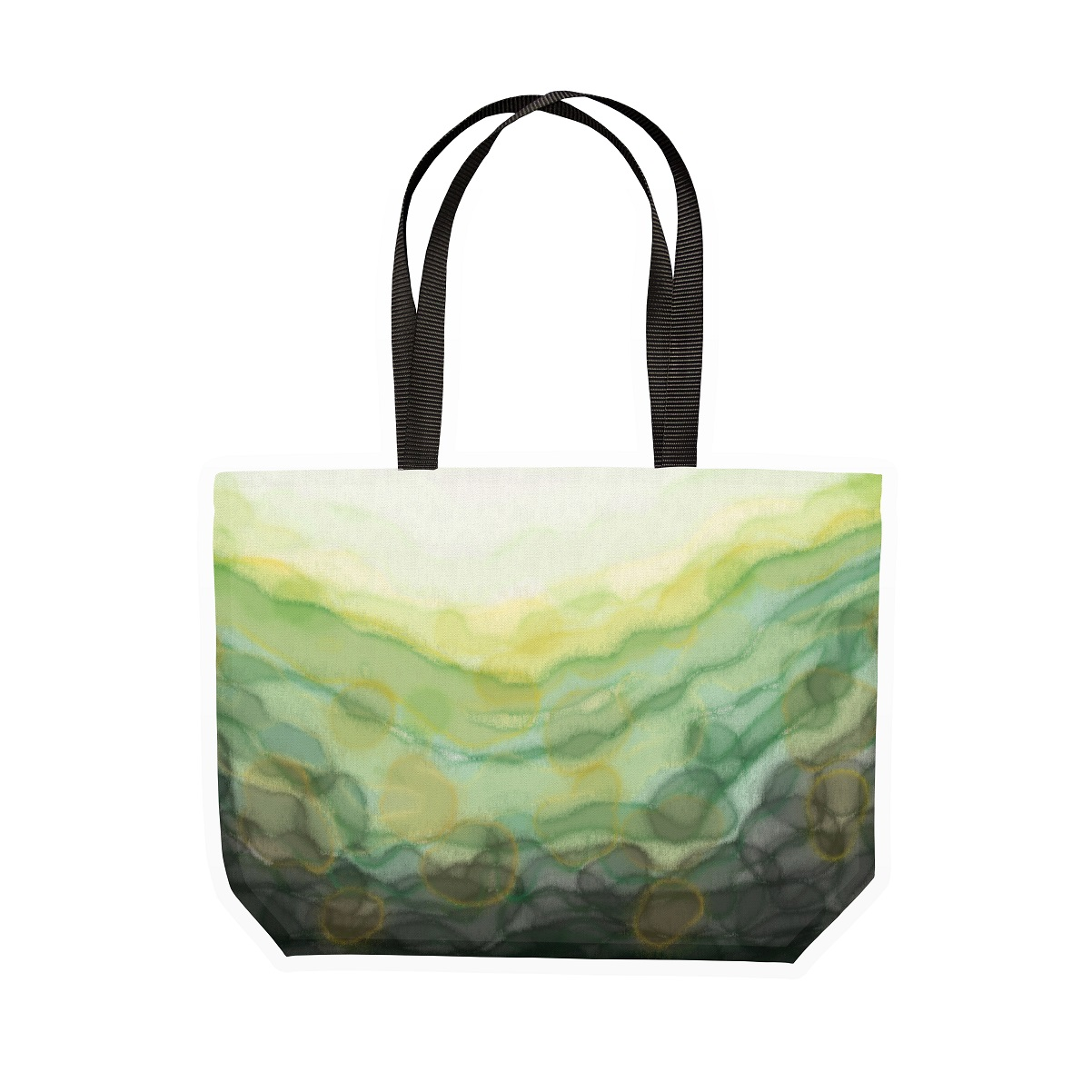 3. Green _Serenity_ Tote Bag - Vegan Reusable Shopping Bag for www.silvermagazine.co.uk